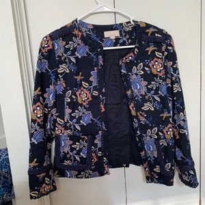 Navy and Floral Jacket